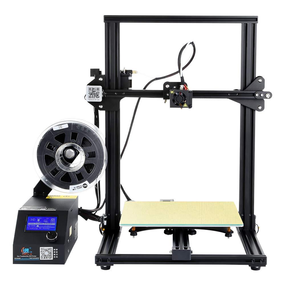 Comgrow Original Creality Impresora 3D CR-10S Tamañ o de impresió n de 300 * 300 * 400 mm, Detector de filamentos, Reanudar, Tornillo de avance del eje Z doble, Kit de montaje rá pido Kit de montaje rápido Creality 3D