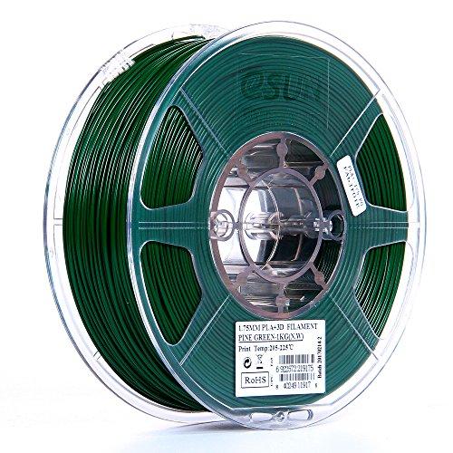 eSUN 1.75mm Pine Green PLA PRO (PLA+) 3D Printer Filament 1KG Spool (2.2lbs), Pine Green, Pantone 343C