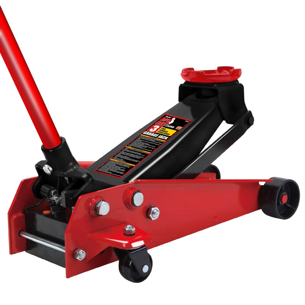 Torin Big Red Pro Series Hydraulic Floor Jack: Single Piston Pump, 3 Ton Capacity by Torin