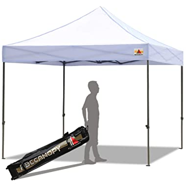 ABCCANOPY Pop up Canopy Tent Commercial Instant Shelter with Wheeled Carry Bag, 10x10 FT WHITE
