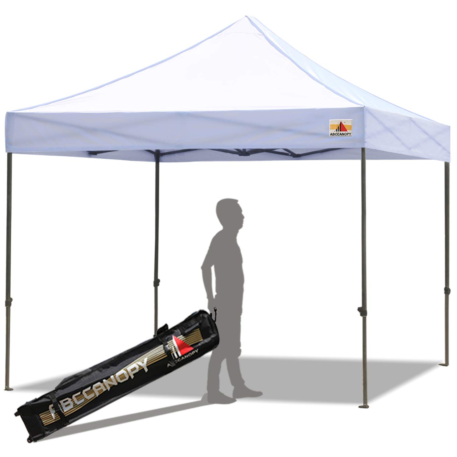 ABCCANOPY Pop up Canopy 10X10 Ft Commercial Instant Canopy Kit with Carrying Bag, 30+ Colors for Your Choice (A for White)