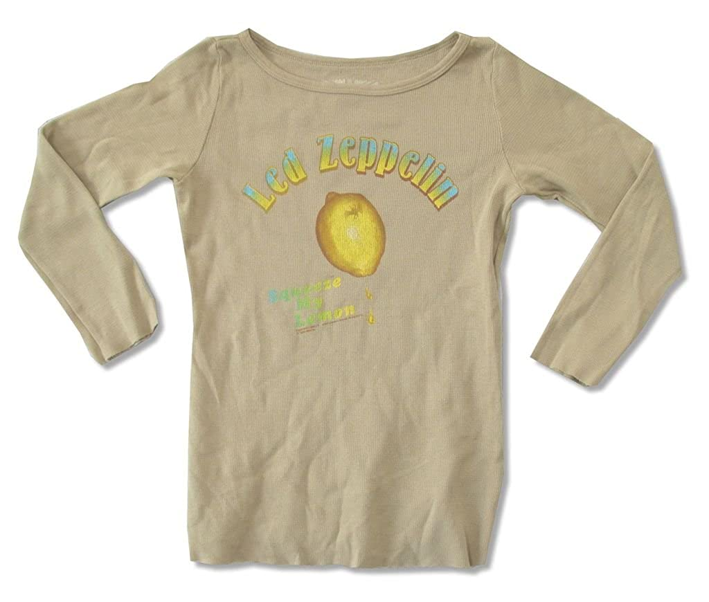 Real Swag Inc Led Zeppelin Earls Court 1975 Girls Juniors Cream Tank Top Shirt