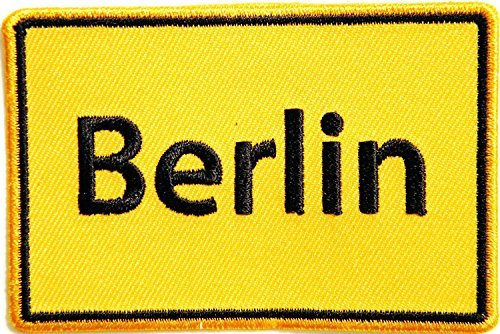 - Berlin Logo Uniform Jacket T-shirt Patch Sew Iron on Embroidered Sign Badge Costume Gift