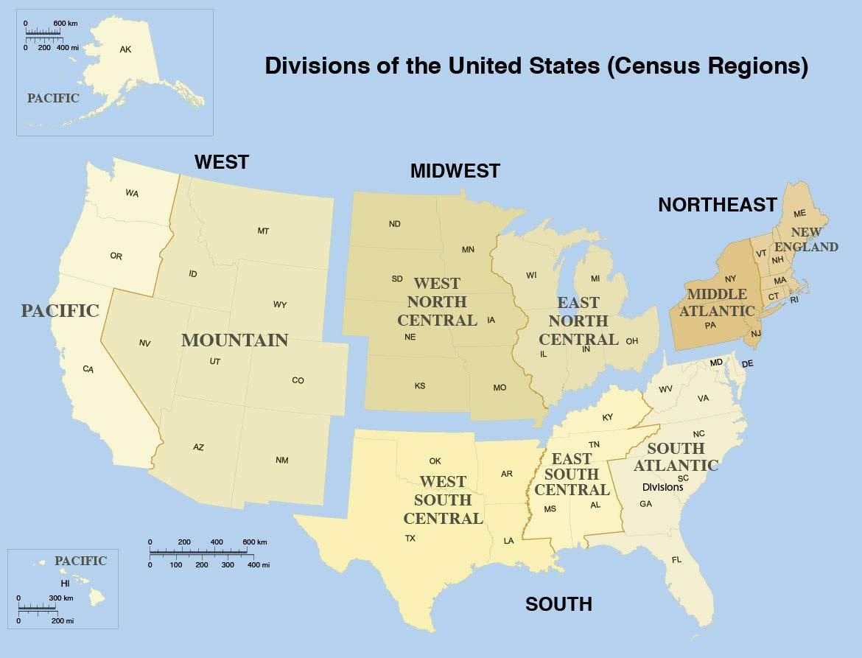 Amazon.com: Home Comforts Laminated Map - List US States ...