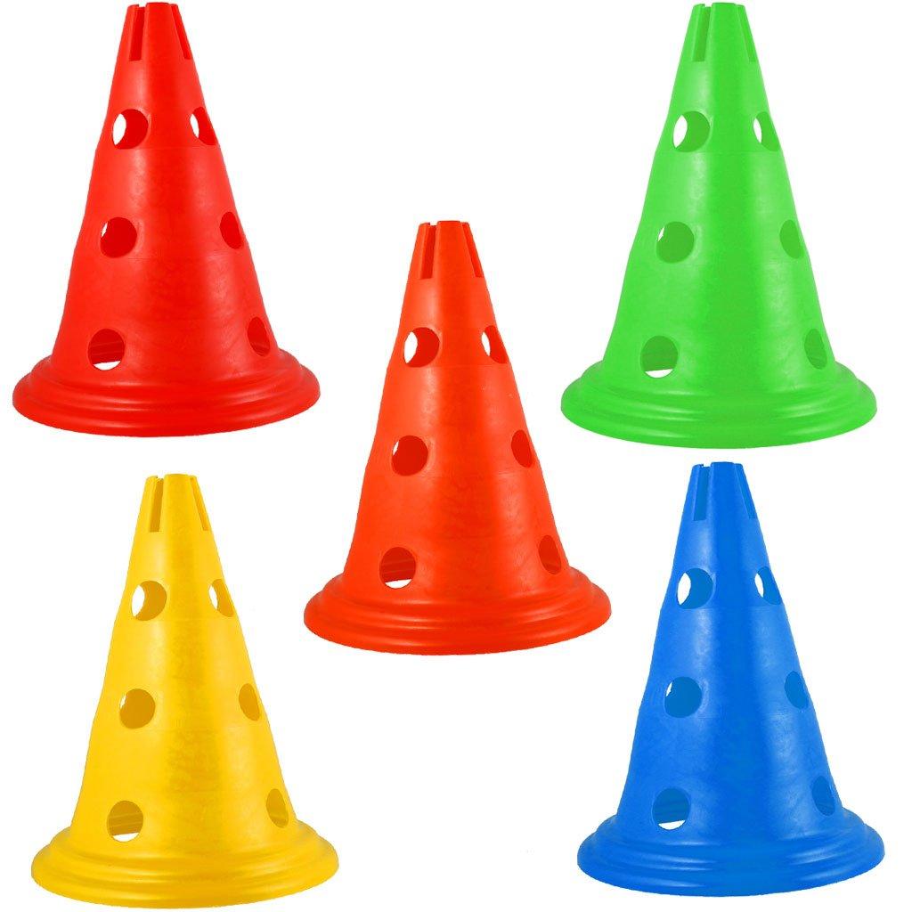 Magideal 5pcs Sport Soccer Football Training Cone Traffic Safety Cones 30cm