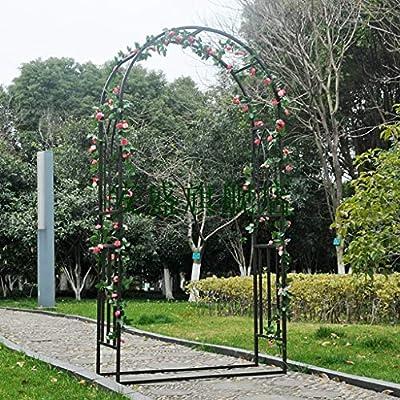 YICOL Arco de Jardín para Enredaderas 230x120cm Enrejado de Acero para Rosas Enredaderas Plantas Trepadoras Patio Exterior Césped Decoración de Patio Trasero, Pasarelas de Jardinería Arcos, Negro: Amazon.es: Hogar