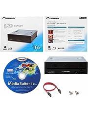 Pioneer BDR-2209 16X interna Blu-ray BDXL DVD CD Burner Drive escritor en caja al por menor con Cyberlink Media Suite de Software + Cable y tornillos de montaje