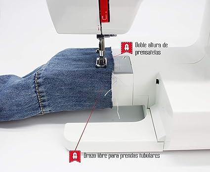Alfa Basic 720 - Máquina de coser, 9 diseños de puntada, motor de 70 W, color blanco: Amazon.es: Hogar