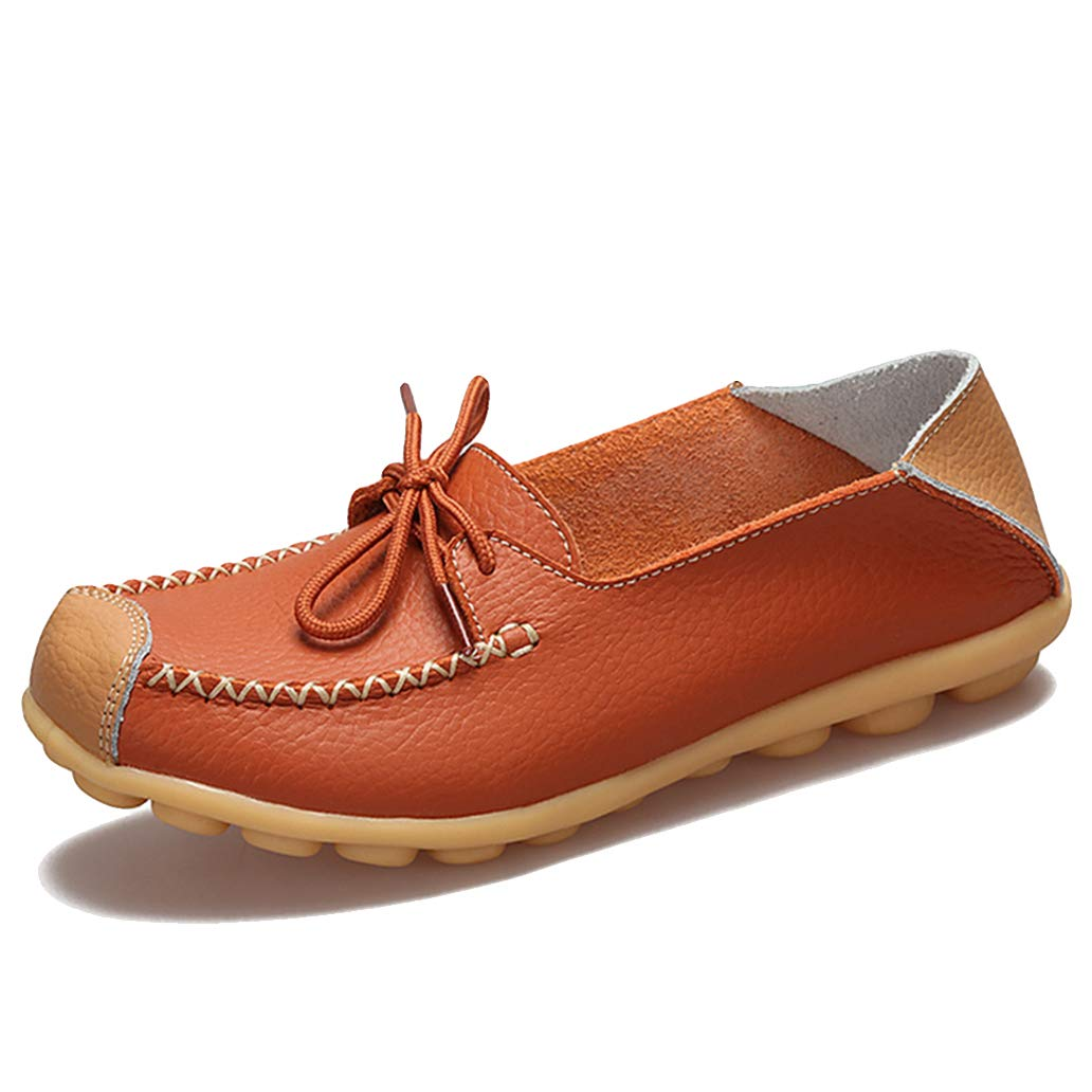 York Zhu Big Size Women Boat Shoes Flats Loafers Lace Up Moccasins Shallow Man Shoes