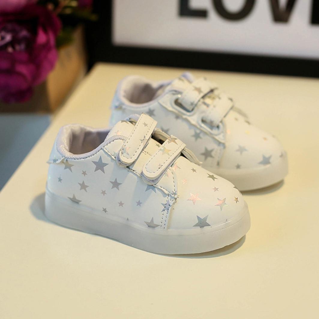 Babyschuhe,Binggong Baby Mode Turnschuhe LED Leuchtende Kind Kleinkind L/ässige Bunte Licht Schuhe Flash Schuhe Teller Schuhe Kinder Schuhe mit Licht Led Leuchtende Blinkende