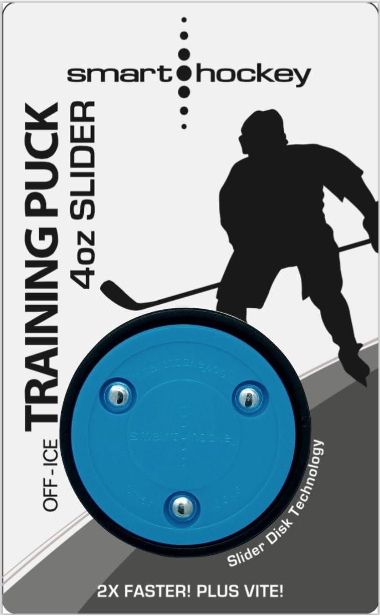 Blue 3-Pack Smarthockey 4oz Slider Hockey Training Speed Puck /… Black 3-Pack