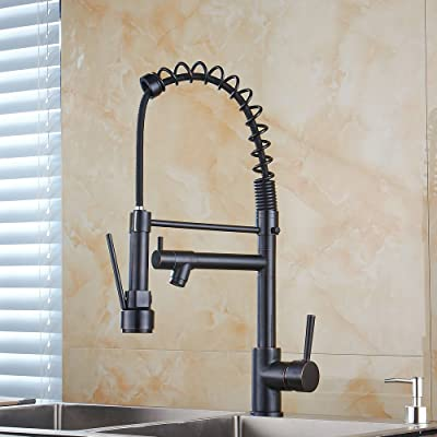 Ollypulse Solid Brass One Hole Deck Mount Kitchen Sink Faucet