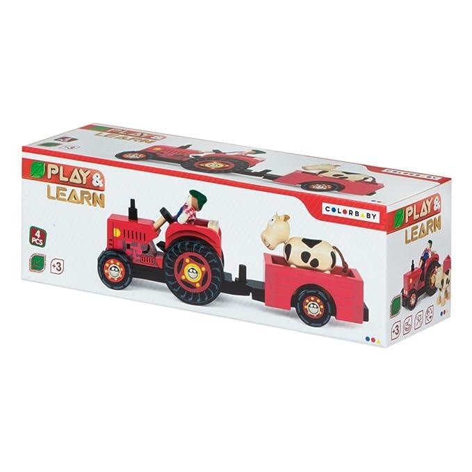 Cm43621 De Colorbaby 33 Tractor Madera qARj3L45