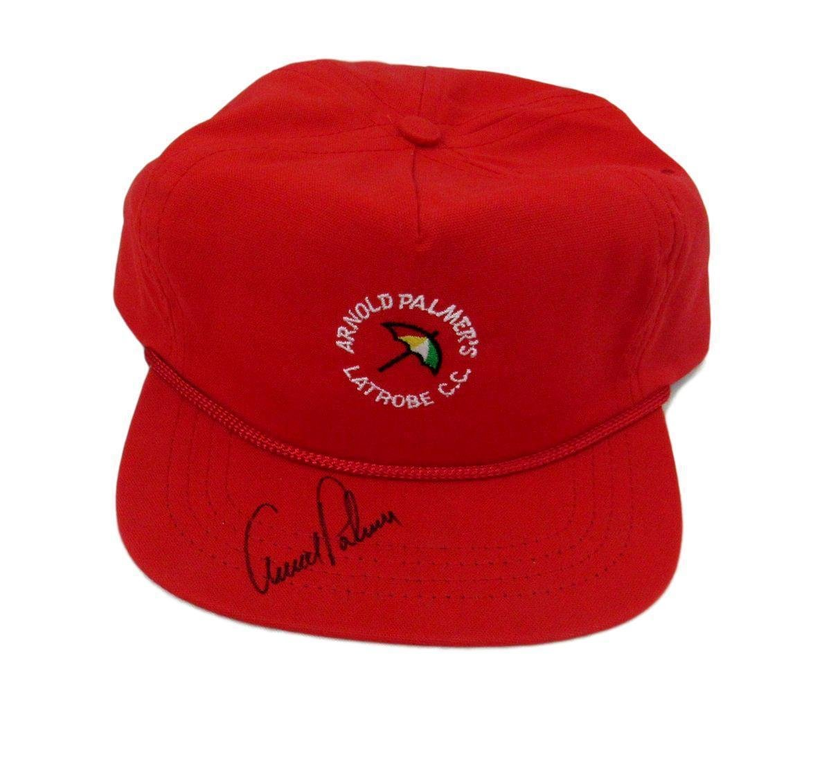 Arnold Palmer Autographed/Signed Latrobe County Club Hat 136872 JSA Certified Autographed Golf Hats and Visors