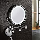 LIGHTledMirror/Continental telescopic folding double-sided beauty mirror/Mirror child/Bathroom mirror-A