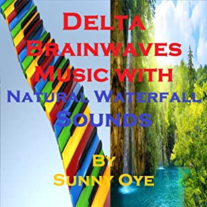 Delta Brainwaves Music Mixed with Natural Waterfall Sounds Speech