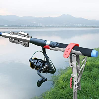 Details about  /Automatic Spring Fishing Rod Holder Stainless Steel For Ground Support Bracket