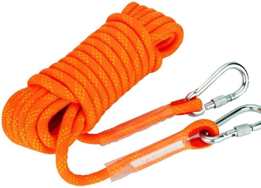 ロープクライミングロープクライミングロープ、ナイロンロープエスケープ装置を懸垂下降14/12/10ミリメートル安全ロープクライミング、30M / 20メートル/ 15メートル/ 10メートル (Color : Diameter-12mm, Size : 30 m) Diameter-12mm 30 m