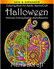 Coloring Book for Adults: MantraCraft Halloween: Halloween Coloring Book for Adults Relaxation