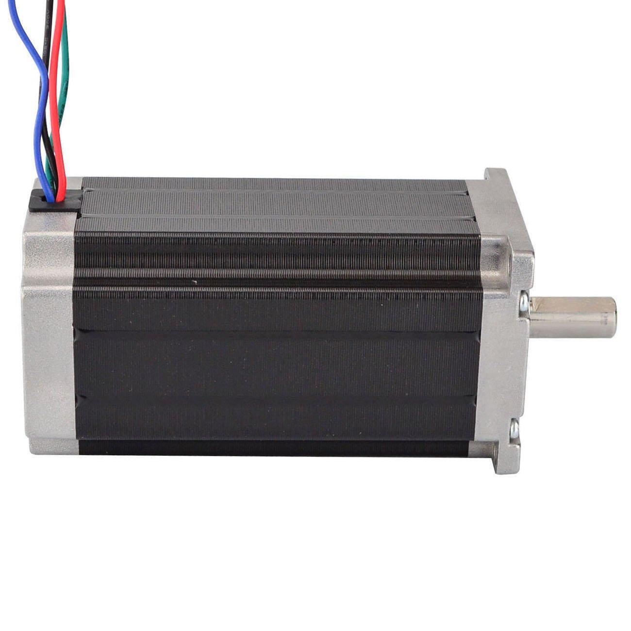 STEPPERONLINE Nema 23 Stepper Motor 3Nm 4.2A 4-Lead 10mm Shaft for CNC Mill Lathe Plasma Router