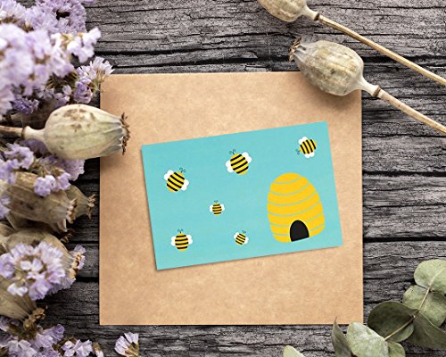 48 Pack All Occasion Assorted Blank Note Cards Greeting Cards Bulk Box Set -  6 Honey Bear Designs - Blank on the Inside Notecards with Envelopes Included - 4 x 6 Inches by Best Paper Greetings (Image #1)