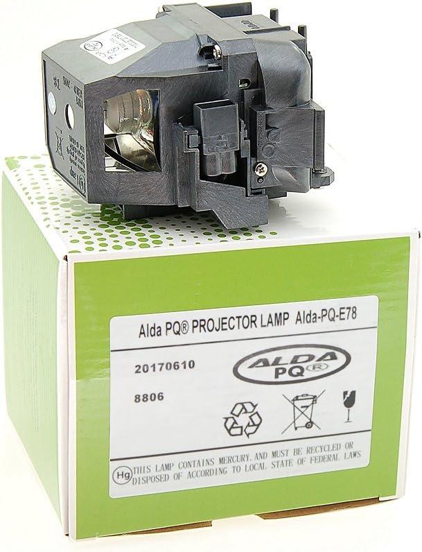 Lampe mit Geh/äuse Alda PQ-Premium Ersatzlampe f/ür EPSON EB-S18 Projektoren Beamerlampe