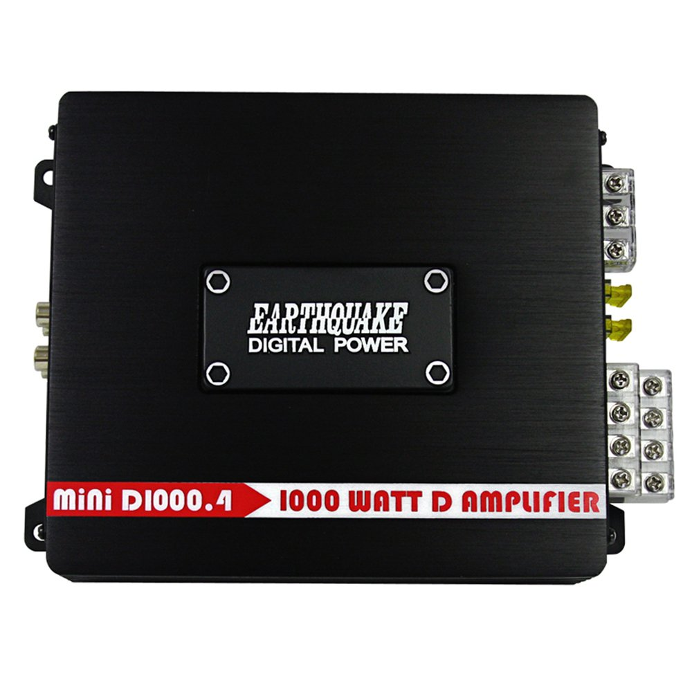 Earthquake Sound MiNi D1500.2 Stereo Class D 2-Channel Car Amplifier 1500 Watts