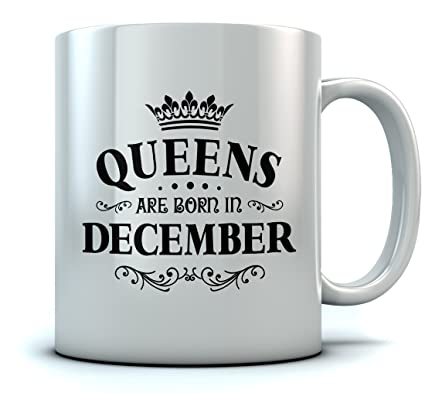 QUEENS Are Born In December Birthday Gift For Women Wife Mom Girlfriend