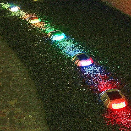Solar Deck Light,SOLMORE LED Solar Dock Path Road Lights