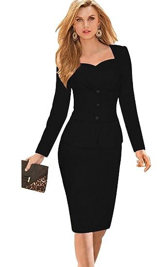4991d07bf9 Babyonlinedress Office OL Wear To Work Long Sleeve Bodycon Casual ...