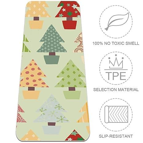Eslifey Esterilla de Yoga para árbol de Navidad ...