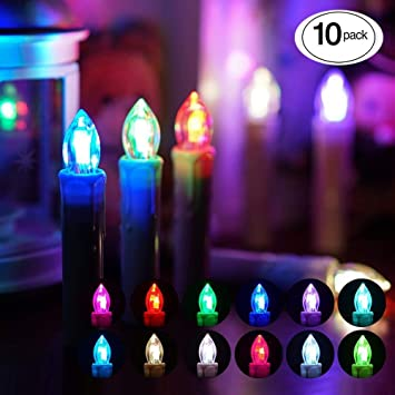 BlueFire 10 Pack LED Candle Lights Flicker Flameless LED Taper Candles  Lights with Remote for Christmas - Amazon.com: BlueFire 10 Pack LED Candle Lights Flicker Flameless LED