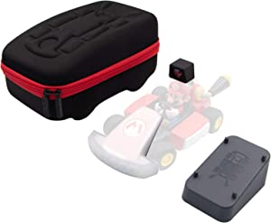 Protection Case Compatible with Mario Kart Live: Home Circuit - Black Protective Hard Portable Travel Carry Case Shell Pouch Compatible with Mario Kart Live: Home Circuit - 4 in 1 Accessories Kit