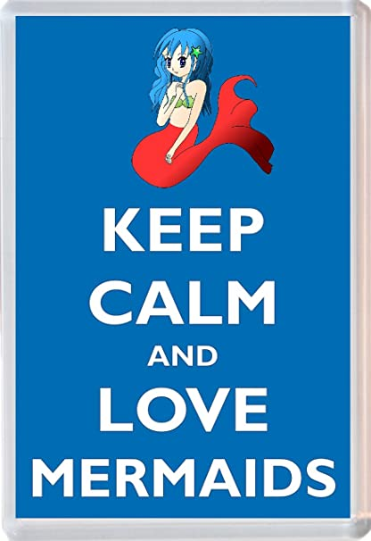 Keep Calm And Love sirenas - Jumbo imán para nevera - Marca nuevo ...