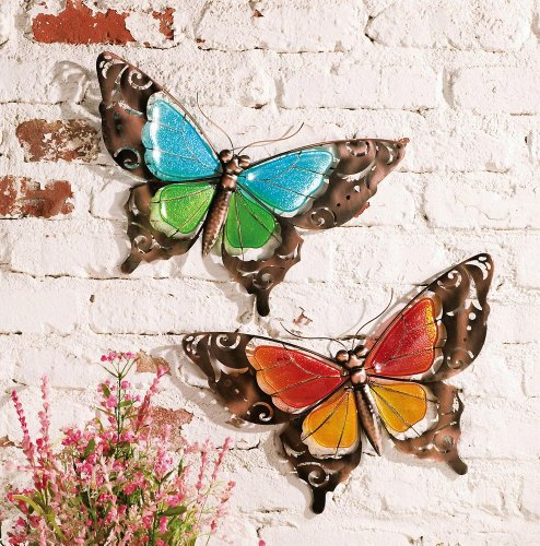 Stained Glass Butterfly Wall Art