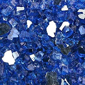 Li Decor 10 Pound Fire Glass 1/2 Inch High Luster Tempered Fire Pit Glass Fire Glass Rocks for Gas Fireplace,Tuscana…