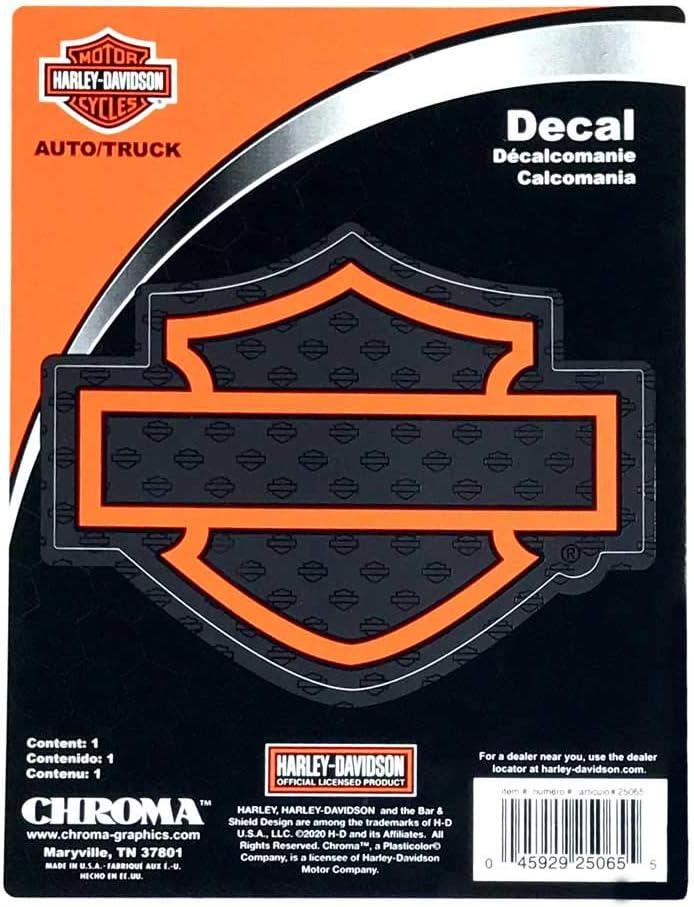 Harley-Davidson Silhouette Bar & Shield Logo Decal
