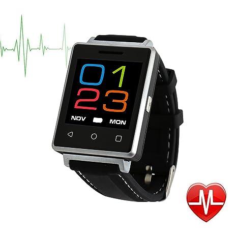 techcommyang Bluetooth Fitness Tracker Reloj Resistente al agua, hombre Smart Reloj Pulso Feria correa de