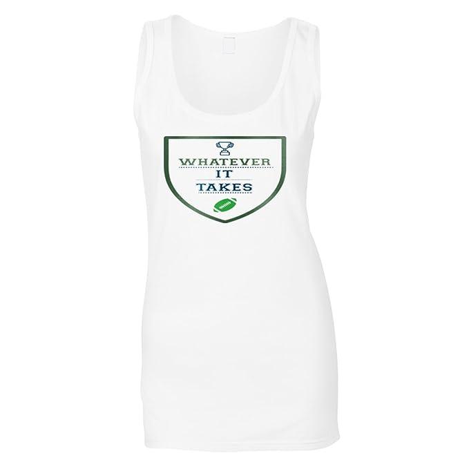 Lo Que Sea Necesario Fútbol Camiseta sin Mangas Mujer s482ft: Amazon.es: Ropa y accesorios