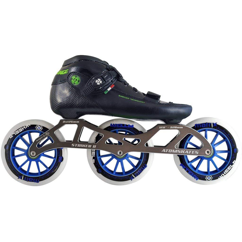 Atom Luigino Challenge 125 Inline Skate Package (Size 3, Blue)