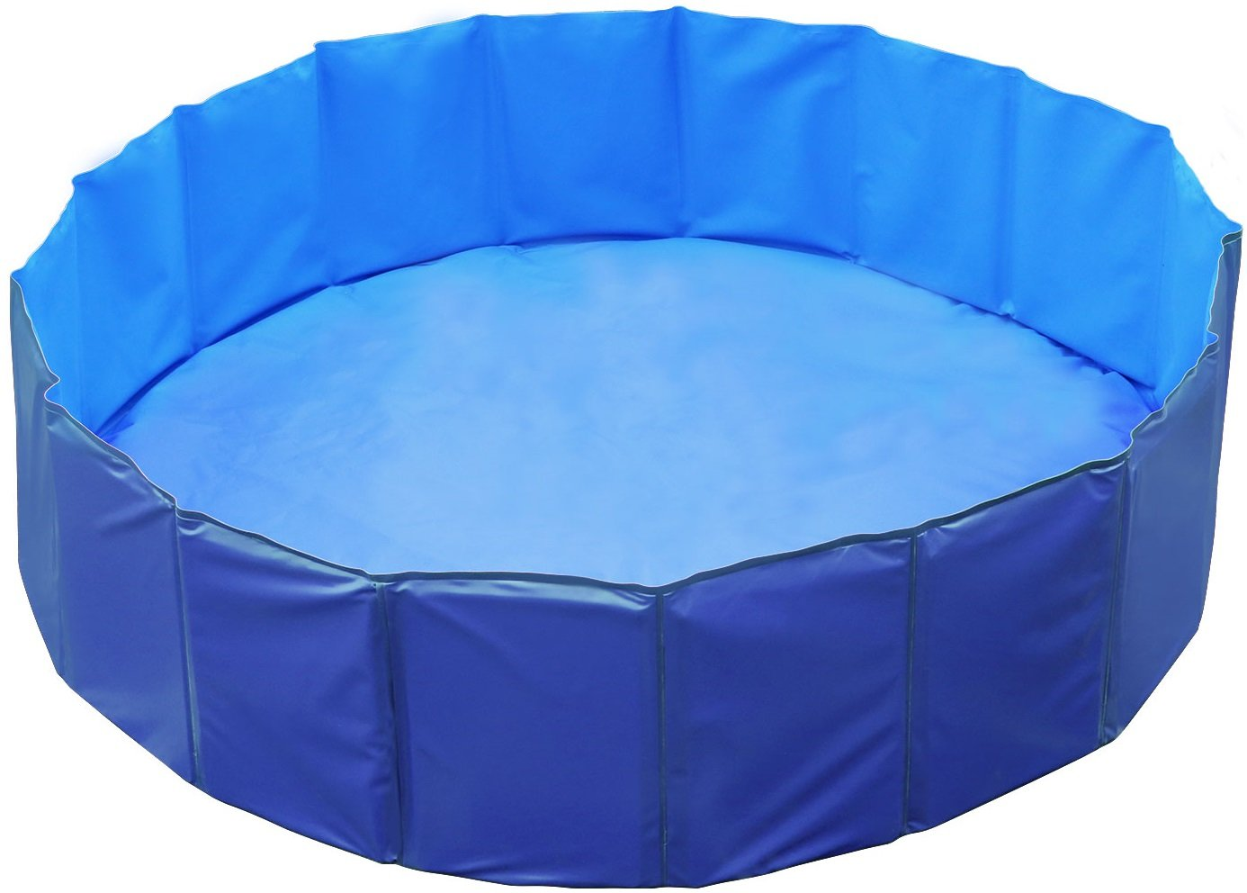 GPCT [63 INCH Foldable/Portable [Collapsible] Large Dog Pet Bathing Swimming Pool. Durable, Heavy Duty, Bathing Bath Tub Wash Pond Water Washer for Toddlers, Dogs, Cats, Pets [Blue]