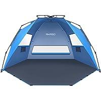 AKASO Pop Up 3-4 Person Beach Tent X-Large - Easy Setup, Portable Beach Shade Canopy Folding Sun Shelter with UPF 50+ UV…