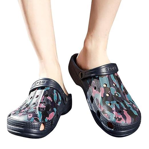 cf71aa51c50326 Amazon.com: Water Sandals - Men's Garden Clogs Shoes Summer Quick Drying  Walking Comfort Casual Beach Slippers: Clothing