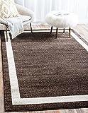 """Unique Loom Del Mar Collection Brown 3 x 5 Area Rug (3' 3"""" x 5' 3"""")"""