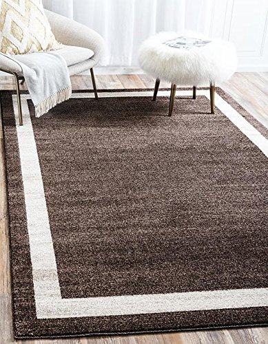 Brown 3'3'x5'3' Area Rug (Unique Loom Del Mar Collection Brown 3 x 5 Area Rug (3' 3