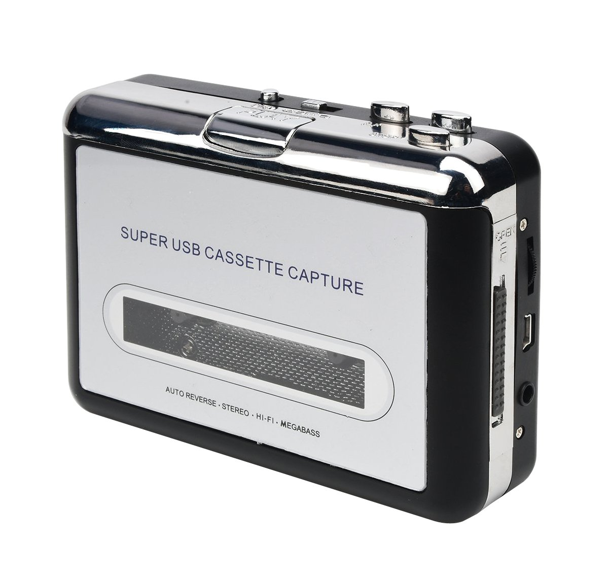VAKABOX USB Cassette Capture Old Cassette Tape to MP3 Converter, USB Flash Driver U Disk, Walkman Player, Auto-Reverse