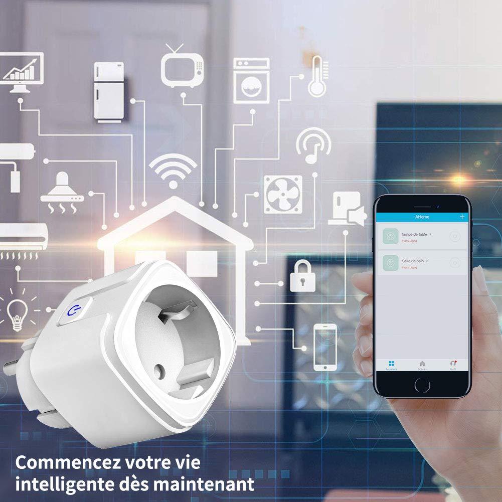 16A-3680W Mini Smart Plug compatible con  Alexa Google Home IFTTT Funci/ón de Temporizador Android iOS Control remoto Echo No se Requiere Hub Enchufe inteligente wifi Control por Voz