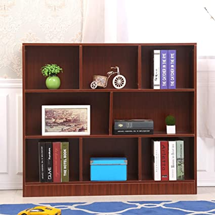 HMDX Storage Bookcase 8 Cubes Wood Open Bookshelf Organizer Closet Display Rack For Home Office