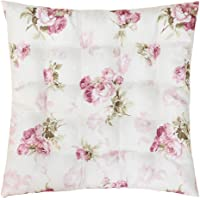 Sittkudde stolkudde ROSI 40 x 40 x 4 rosor – rosa vit dyna lanthus