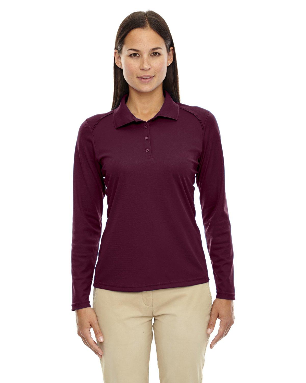 Ash City Ladies Armour Long Sleeve Polo (X-Small, Burgundy)